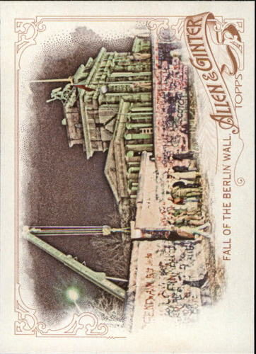 Photo of 2015 Topps Allen and Ginter #302 Fall of the Berlin Wall