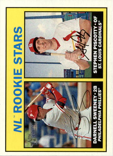 Photo of 2016 Topps Heritage #183A Darnell Sweeney RC/Stephen Piscotty v