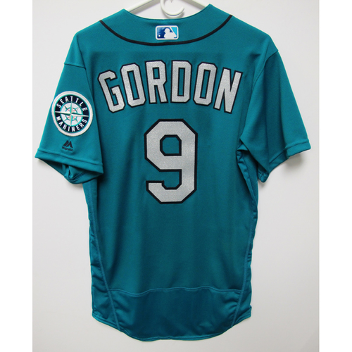 Photo of Seattle Mariners Dee Gordon Game Used Green Jersey - June 15, 2018 vs. Boston Red Sox