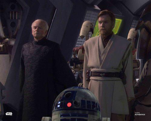 Obi-Wan Kenobi, Chancellor Palpatine and R2-D2