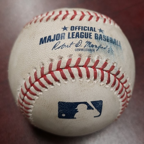 Photo of Authenticated Game Used Baseball - Ball by James Paxton to Lourdes Gurriel Jr. (May 8, 2018). Bottom 8. James Paxton No Hitter Game. 2nd Ever by a Canadian.