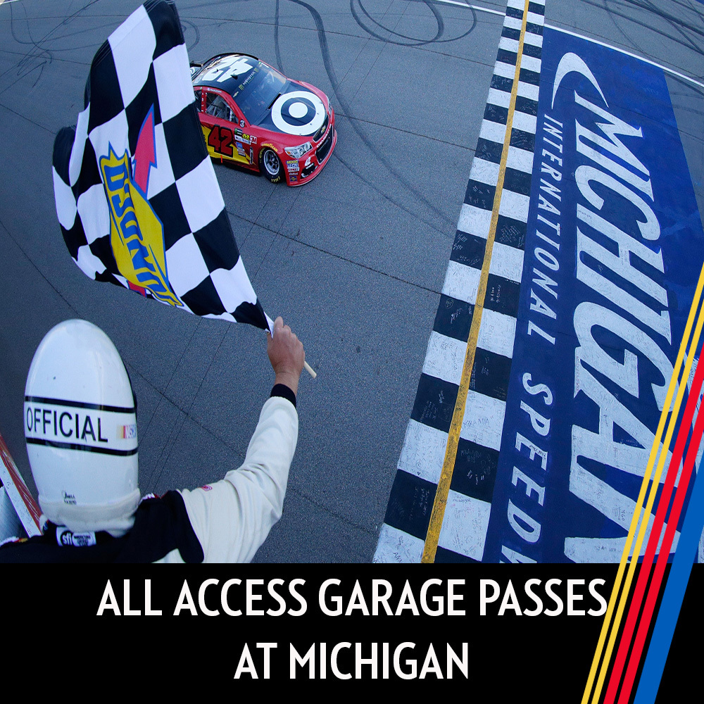 All Access Garage Passes at Michigan International Speedway for the entire race weekend!