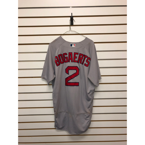 Photo of Xander Bogaerts Game-Used June 3, 2017 Road Jersey