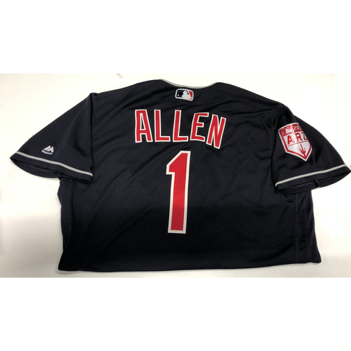 Photo of Greg Allen Game Used 2019 Spring Training Jersey