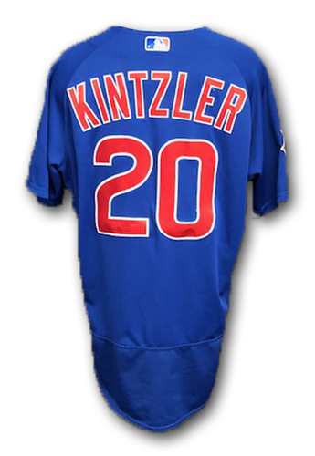 Photo of Brandon Kintzler Game-Used Jersey -- Cubs at Rangers -- 3/31/19 -- Size 46