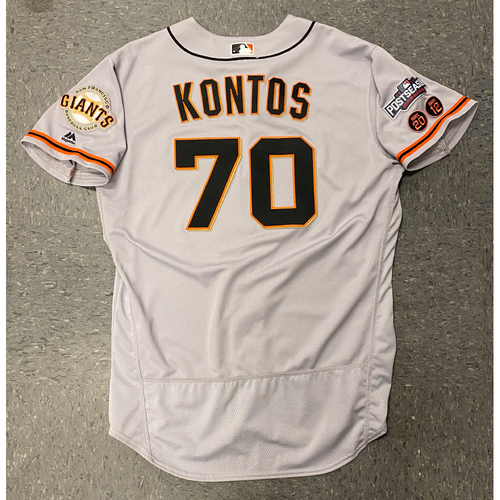 Photo of 2016  Game Used Postseason Road Jersey worn by #70 George Kontos - Size 48