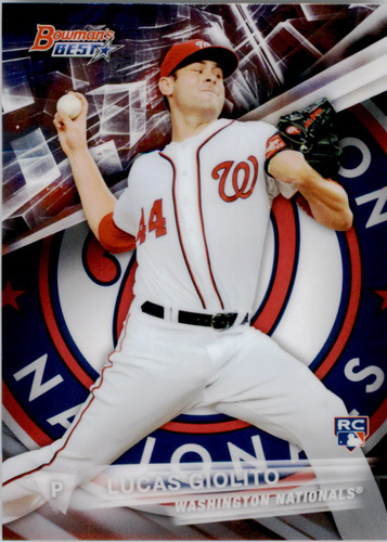 Photo of 2016 Bowman's Best #20 Lucas Giolito Rookie Card