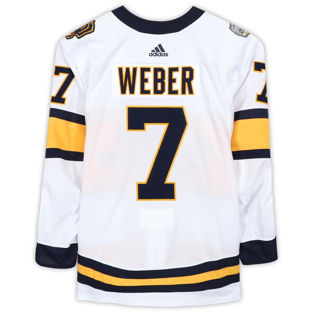 Yannick Weber Nashville Predators Player-Issued 2020 NHL Winter Classic Jersey
