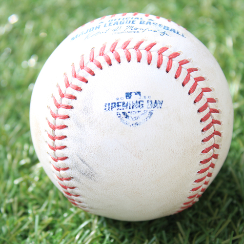 Photo of Game-Used Opening Day Baseball: Batter - Moncada, Pitcher - Zuber, Strikeout, Top 5 (7/31/20 CWS @ KC)