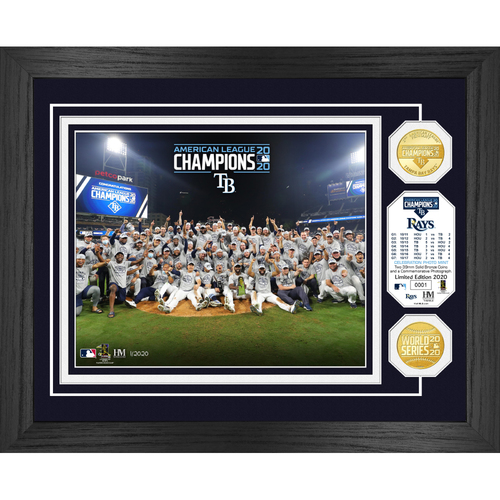 Photo of Serial #1! 2020 AL Champions Celebration Bronze Coin Photo Mint - Tampa Bay Rays