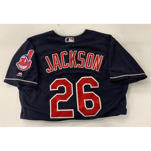 Photo of Game Used Alternate Navy Jersey: Austin Jackson #26 (Worn during 1000th career hit)