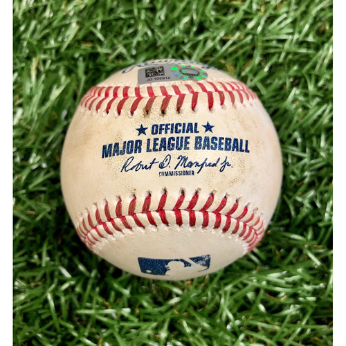 Photo of Game Used Baseball: Jean Segura single off Ryan Yarbrough - September 26, 2020 v PHI