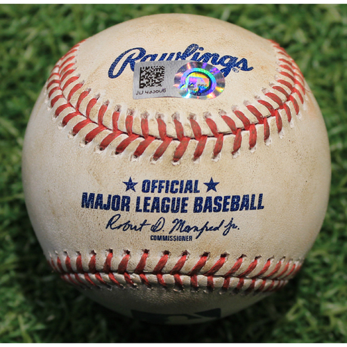 Photo of Game-Used Baseball: Ryan Jeffers 3rd Career Hit (MIN @ KC 8/23/20)