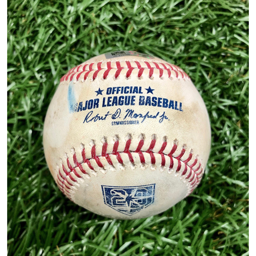 Photo of Game Used 20th Anniversary Baseball: David Price strikes out Adeiny Hechavarria - March 30, 2018 v BOS