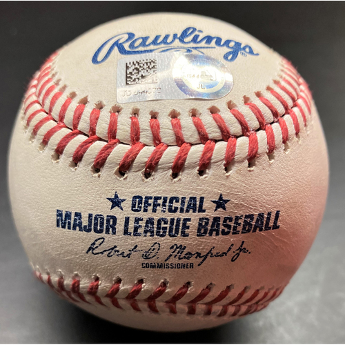 Photo of Game-Used Baseball: Franmil Reyes Cleveland Indians Home Run (MLB AUTHENTICATED)