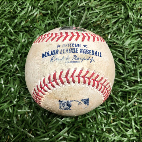 Photo of Spring Training Game Used Baseball: Mike Brosseau single off Shaun Anderson - March 10, 2021 v MIN