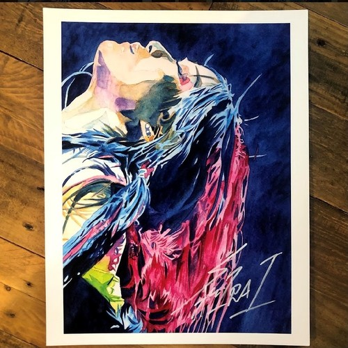 Photo of Io Shirai SIGNED Rob Schamberger 11 x 14 Art Print (2021)