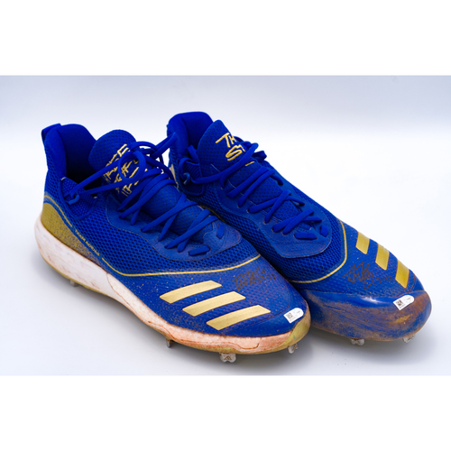 Photo of Danny Duffy Game-Used and Autographed 1000th Strikeout Game Cleats