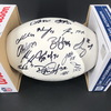 Patriots - Panel Ball with Patriots Logo Signed by #2 Brian Hoyer, # 4 Jarrett Stidham, # 5 Justin Rohrwasser, # 6 Nick Folk, #7 Jake Bailey, # 11 Julian Edelman, # 15 N'Keal Harry, # 16 Jakobi Meyers, #18 Matthew Slater, # 28 James White, # 30 Jason McCo