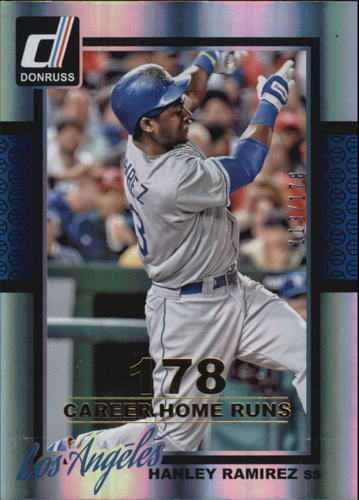 Photo of 2014 Donruss Stat Line Career #157 Hanley Ramirez/178