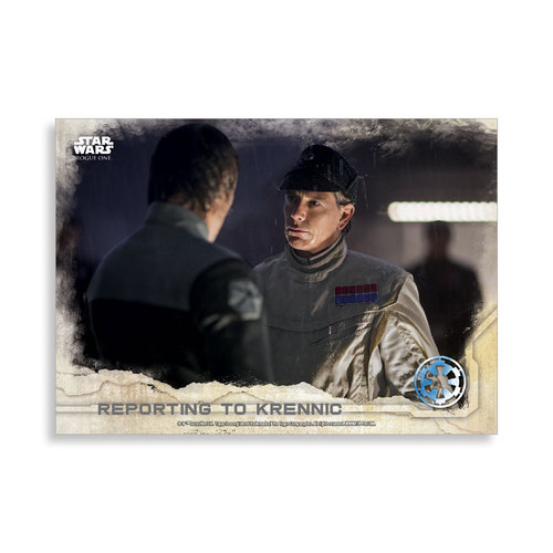 Reporting to Krennic 2016 Star Wars Rogue One Series One Base Poster - # to 99