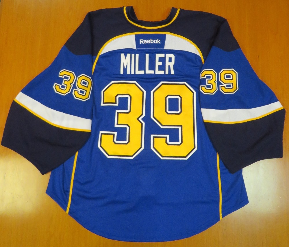 Ryan Miller autographed game-worn jersey