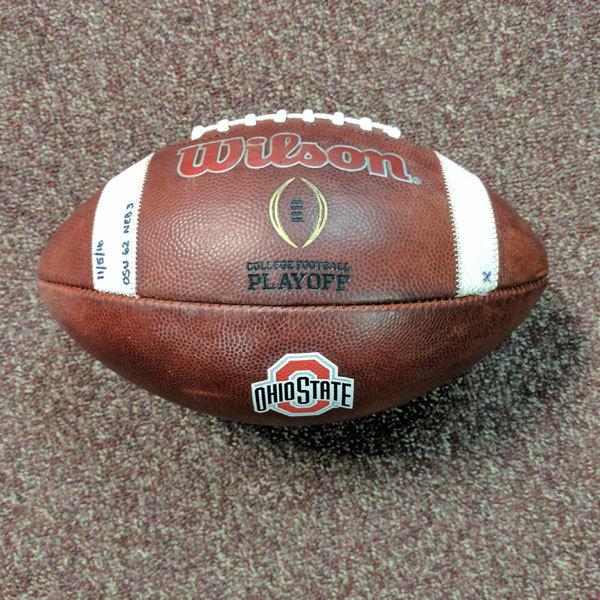 Photo of Ohio State Football Game Ball (Nebraska)