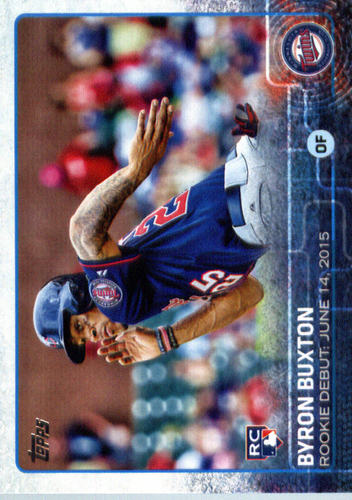 Photo of 2015 Topps Update #US136 Byron Buxton  -- Twins post-season