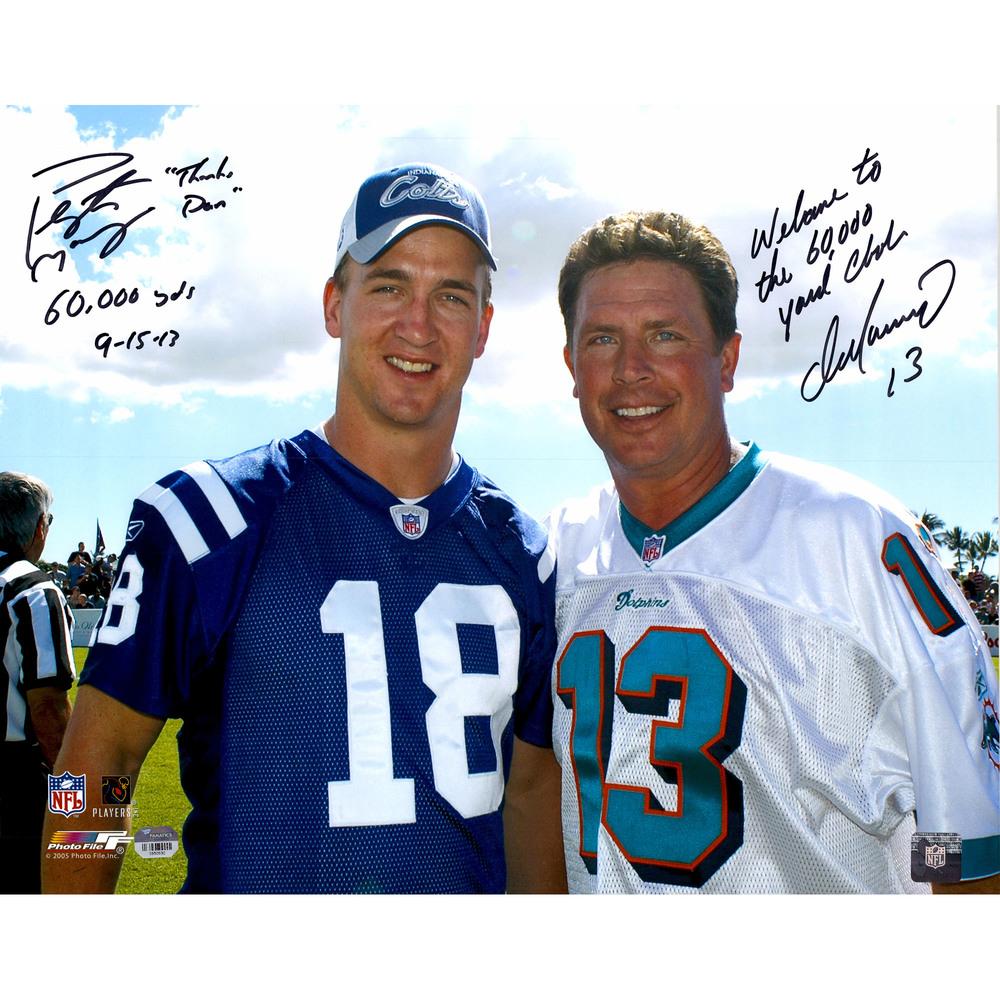 Peyton Manning & Dan Marino Dual Signed 16