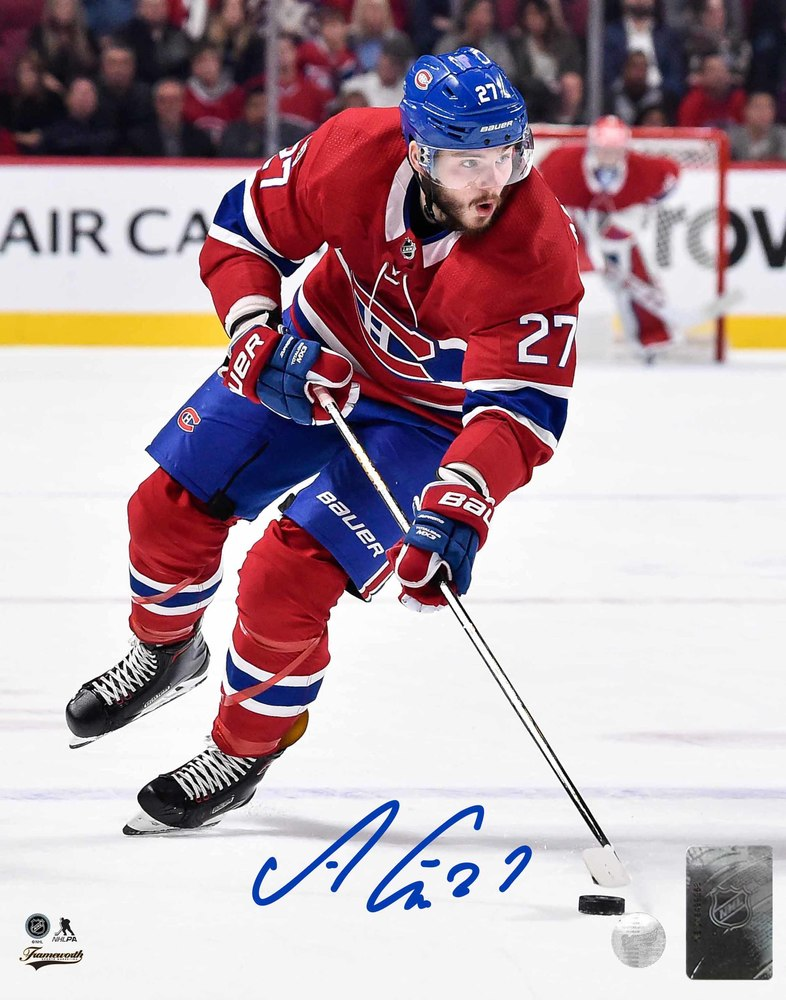 Alex Galchenyuk - Signed 8x10 Unframed Canadiens Red Action