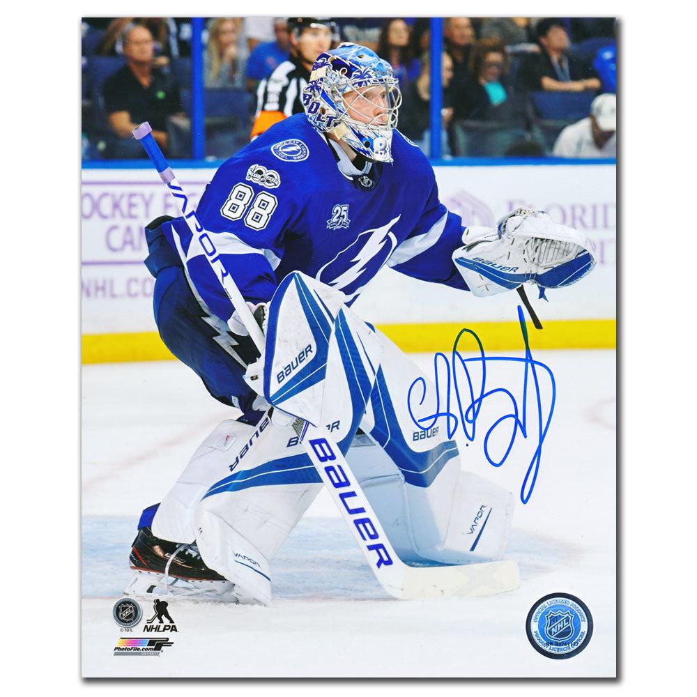 Andrei Vasilevskiy Tampa Bay Lightning FOCUSED Autographed 8x10