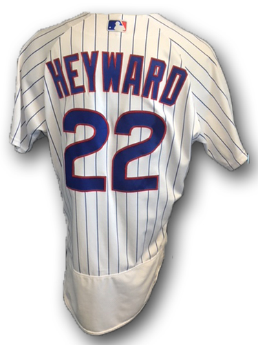 Photo of Jason Heyward Game-Used Jersey -- Heyward 2 for 4 -- Pirates vs. Cubs -- 6/8/18