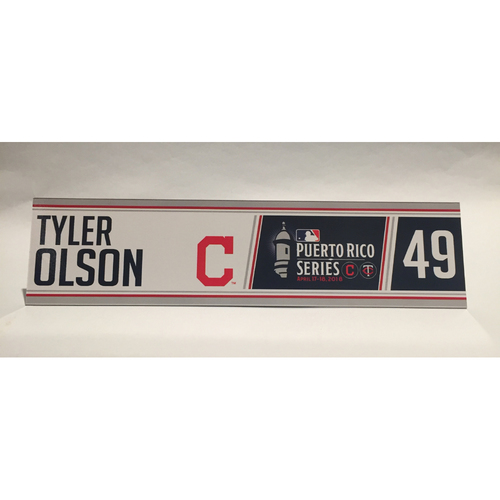 Photo of 2018 Puerto Rico Series - Tyler Olson Game-Used Locker Name Plate