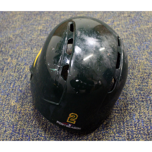 Game-Used Khris Davis 2018 Helmet (9/19/18 vs. Angels) w/ Postseason Sticker