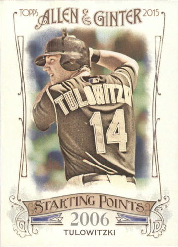 Photo of 2015 Topps Allen and Ginter Starting Points #SP26 Troy Tulowitzki