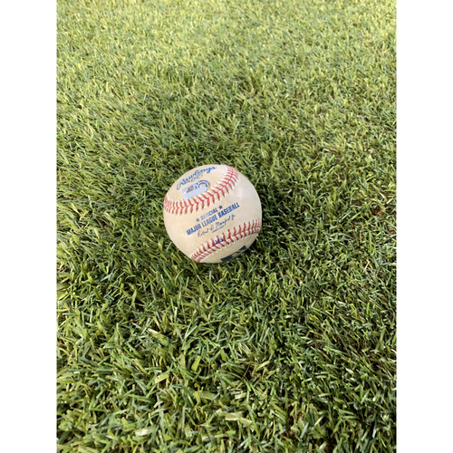 Photo of Game-Used Baseball: April 30, 2019 Arizona Diamondbacks vs New York Yankees (Britton vs Marte - Double)