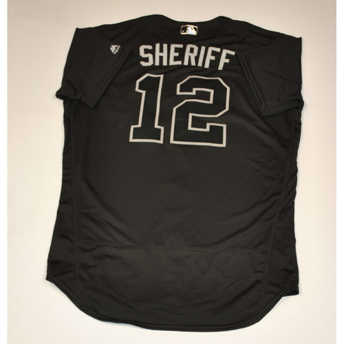 "Photo of Mark ""SHERIFF"" Reynolds Colorado Rockies Team Issued 2019 Players' Weekend Jersey"