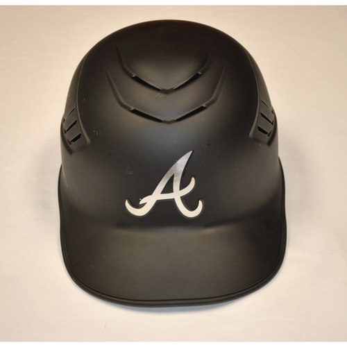 "Photo of Eric ""EY"" Young Atlanta Braves Game-Used 2019 Players' Weekend Helmet"