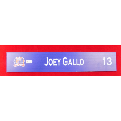 Photo of Final Season Team-Issued Locker Tag - Joey Gallo