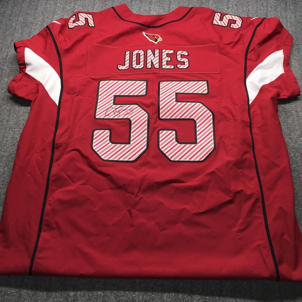 NFL Auction   Cardinals - Chandler Jones Signed Custom Christmas ...