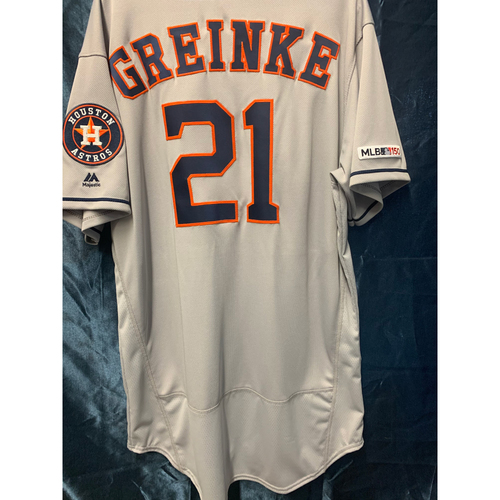 Photo of 2019 Team-Issued Zack Greinke Road Gray Jersey (Size 50)