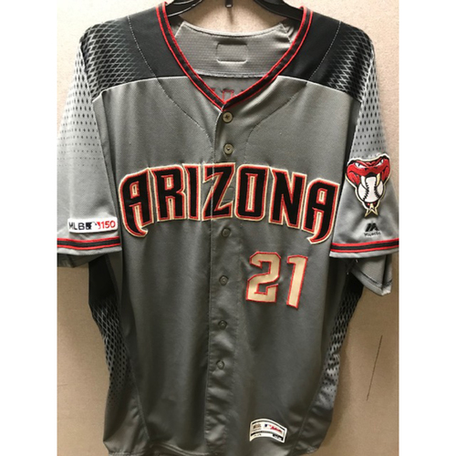 Photo of Zack Greinke 2019 Team-Issued Road Gray Jersey, Size 50