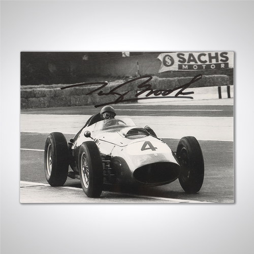 Photo of Tony Brooks 1959 Ferrari Signed Photograph