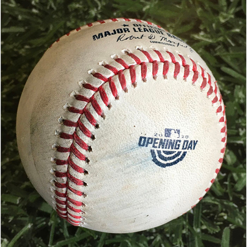 Photo of Game-Used Home Opener Baseball CHW@MIL 08/03/20
