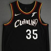 Isaac Okoro - Cleveland Cavaliers - Game-Worn City Edition Jersey - Recorded First Career Double-Double - 2020-21 NBA Season