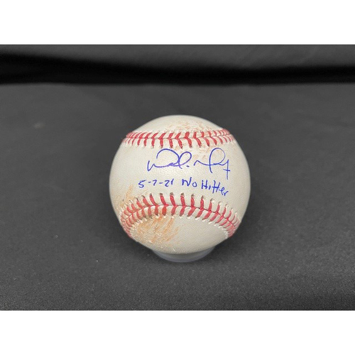 Photo of Wade Miley No-Hitter - *Autographed Game-Used Baseball* - Bot 6 - Wade Miley to Jose Ramirez (Ball) - Inscribed as 5-7-21 No Hitter