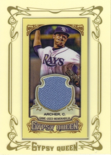 Photo of 2014 Topps Gypsy Queen Framed Mini Relics #GMRCA Chris Archer