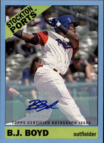 Photo of 2015 Topps Heritage Minors Real One Autographs Blue #ROA125 B.J. Boyd