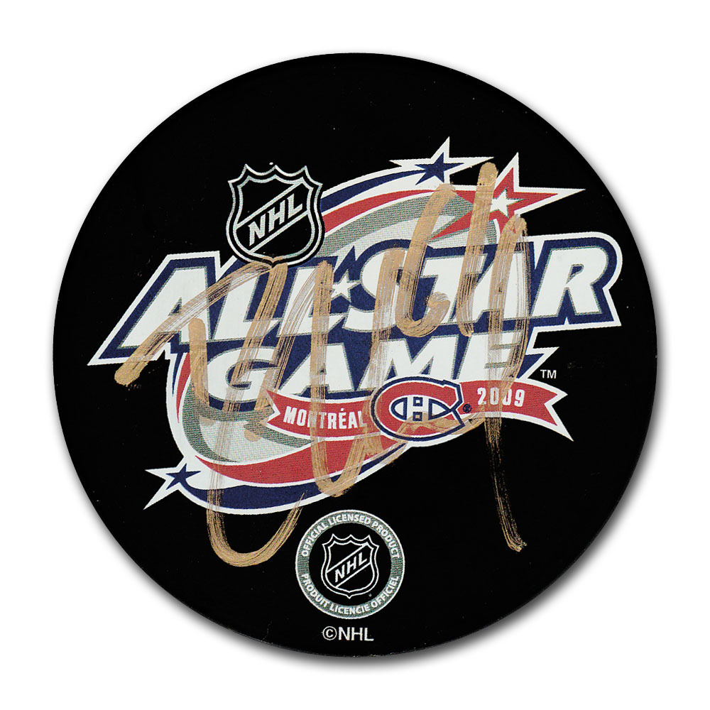 Rick Nash Autographed 2009 NHL All-Star Game Puck