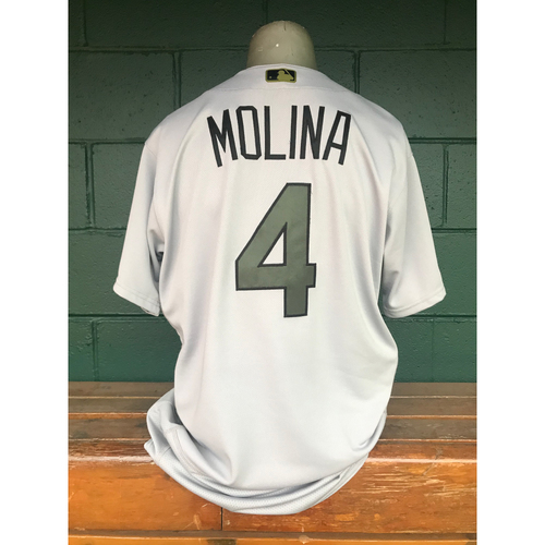 uk availability 04fc4 eef0d MLB Auctions | Cardinals Authentics: Yadier Molina Game Worn ...